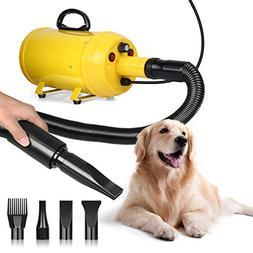 amzdeal Dog Dryer 3.8HP 2800W Pet Blow Dryer Professional Do