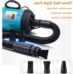 KINGSWELL Dog Hair Drye,High Velocity 4.0 HP Motor Dog Pet
