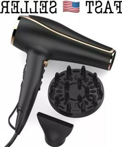 xtava Double Shine Professional Hair Dryer with Diffuser, Io