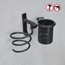 BESy No Drill Hair blow Dryer Holder Spiral with Organizer C