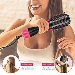 electric hot air round brush blow dryer