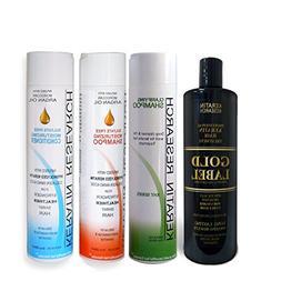 Gold Label Professional Brazilian Keratin Blowout Hair Treat