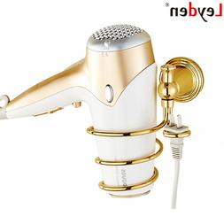 Leyden Golden Brass Wall Mounted Hair <font><b>Dryer</b></fo