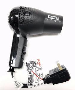 Conair Hair Blow Dryer 1875 Ionic Retractable Cord Dual Volt