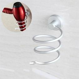 Hair Blow Dryer Holder Wall Mount Bathroom Storage Spiral Bl