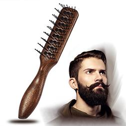 BESTOOL Hair Brush Round Nylon Bristles Teeth Wooden Large T