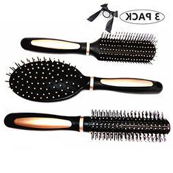 Hair Brush, SS susea Hair Brushes Bristles Set 3 Piece Cushi