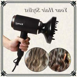 KEMEI Hair Care 3 Speed Hair Dryer Blow Dryer Volume with Di