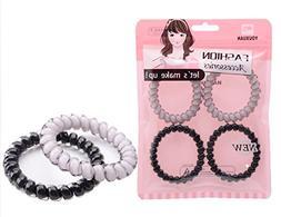 Youxuan 4 Piece Hair Coil Set No-kink Spiral Hair Ring Stron