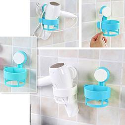 Milue Hair Dryer Holder Removable Suction Cup Stand Rack Bat