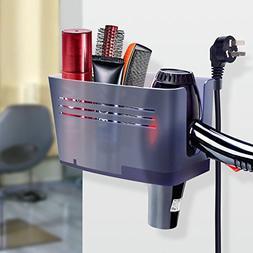 FAMLOVE Hair Dryer Holder Wall Mount Bathroom Beauty Applian