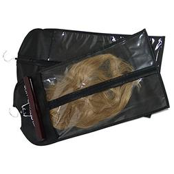Hair Extension Storage Bag Dust-proof Portable Suit with Tra