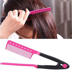 SUJING Hair Straightening Tool V Shaped Easy Comb Hair Strai
