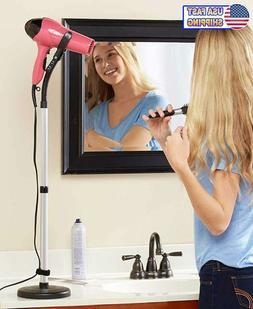 Hands Free Hair Dryer Stand Holder Blow Dryer Mount Hands Fr