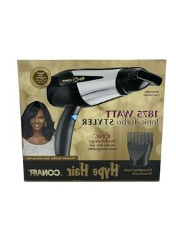 Hype Hair 1875w Ionic Blow Dryer Styler With Detagling Comb