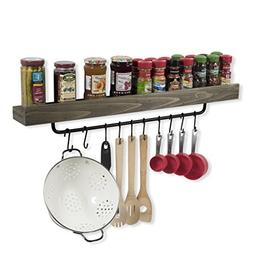 Industrial Design Wall Mount 30 Inch Spice Rack with Towel H