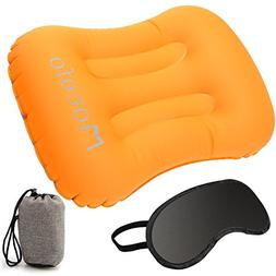 MATDOM Inflatable Travel Camping Pillow with Mask for Sleepi