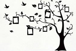 Kiss Birds Trees Hearts Leaves Black Photo Picture Frame Dec