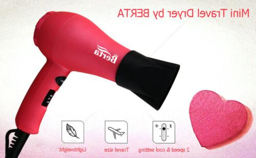 1000w 2 speed mini hair blow dryer
