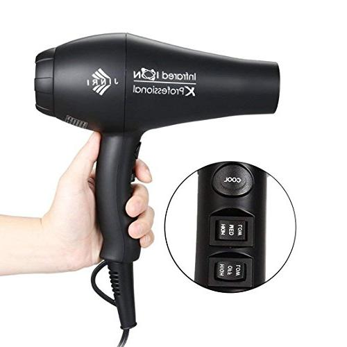1875W Salon Hair Dryer,Negative Motor Noise Hair Blow Dryer Diffuser