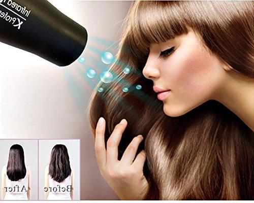 1875W Dryer,Negative Dryer,AC Motor Infrared Hair Blow Dryer Diffuser & Comb,Black