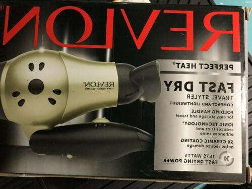 1875w compact travel hair dryer 2 heat