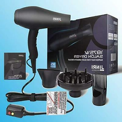 1875W Infrared Professional Salon Hair Dryer, Negative Ionic Blow