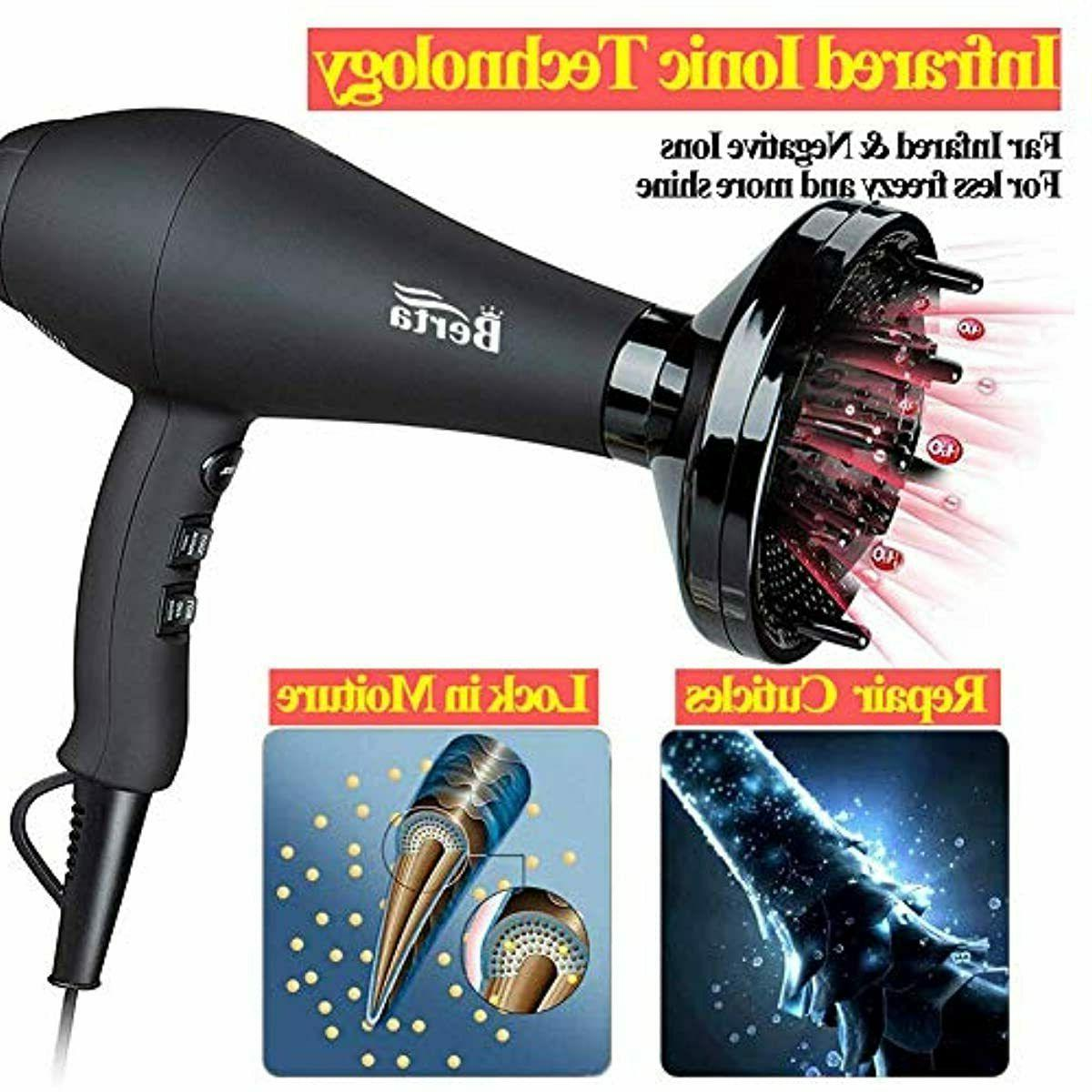 1875W Hair Dryer, Jinri Minute Fast Drying Infrared Blow Dryer wi