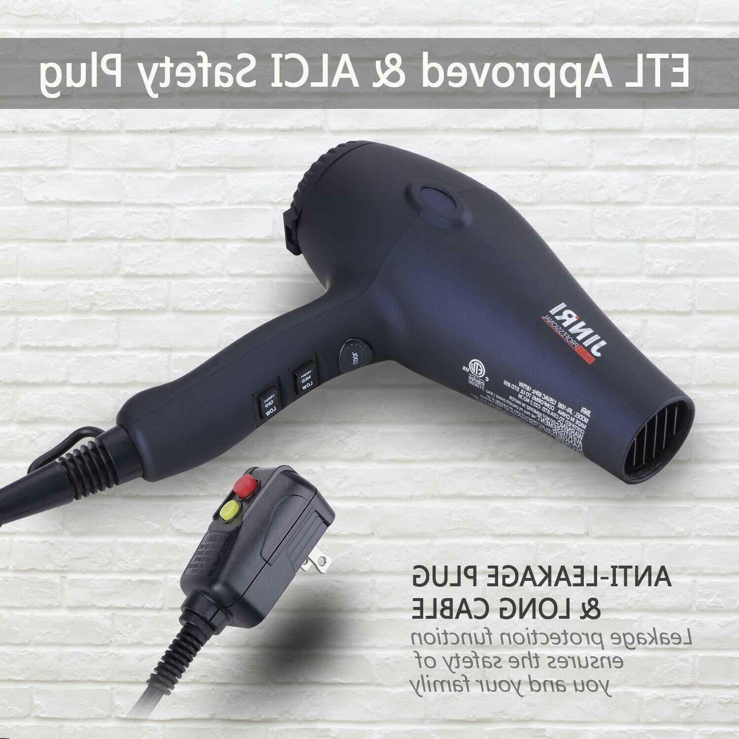 1875w Tourmaline Hair Dryer Negative Ion Salon
