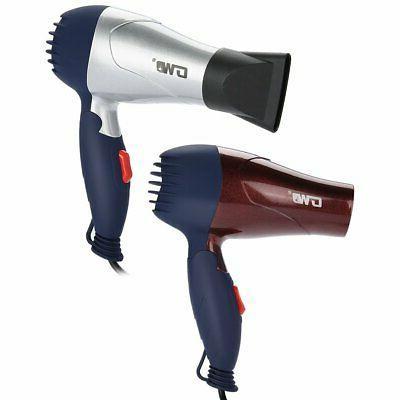 2 Mini Hair Dryer Portable Adjustable Plug