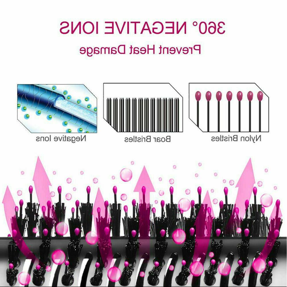 2-in-1 Hair Blow Dryer Volumizer Curler Comb Infrared Hot