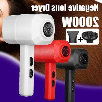 2000w negative ion dryer hair dryer flat