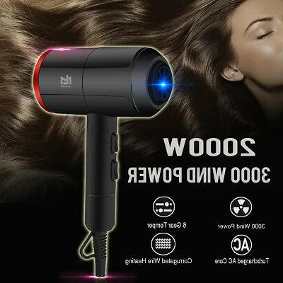 2000w professional hair dryer hot and cold