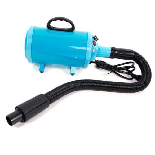 2800W Portable Pet Hair Grooming Dryer Blow Blaster Hairdryer Blue