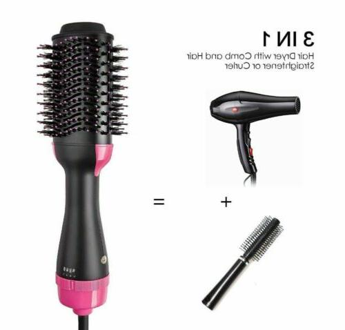 2in1 Blow Dryer & Curler Hot Brush
