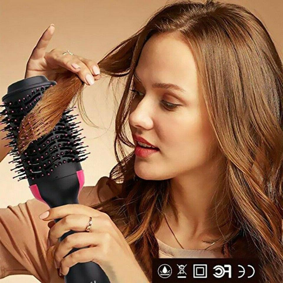 2in1 Hair Dryer & Volumizer Curler Comb Brush