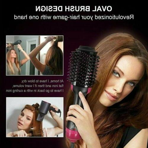 Anion Infrared Hair Comb Brush Blow Straightener USA