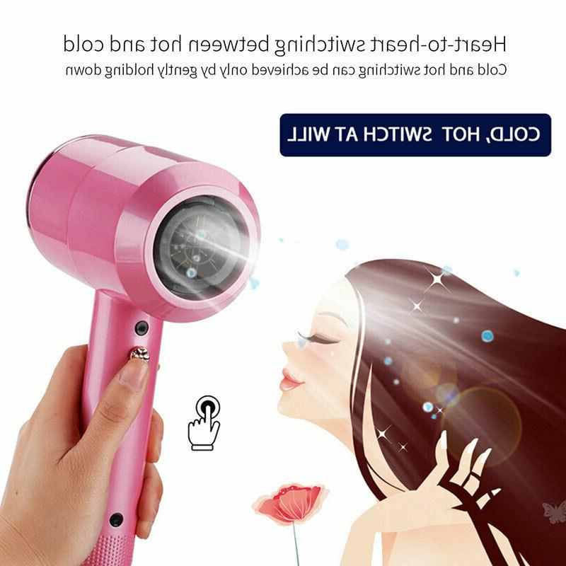 Colorful Hair Dryer Strong Wind Hot and Cold Hair Dryer Hot Brush