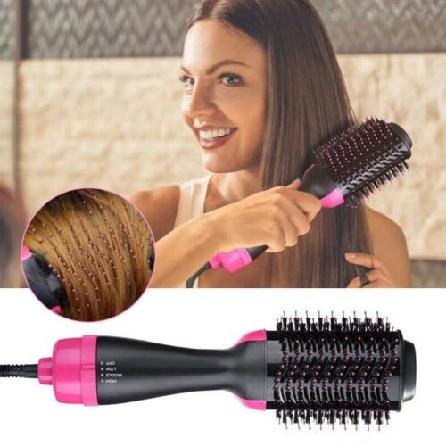 3 IN Oval Hair Dryer Comb Air Styler Smooth Styling Tool