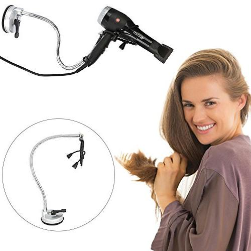 360 Degrees Rotation Hairdryer Stand, Stainless Hair Dryer H