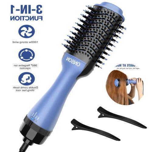 ONSON 3in1 Dryer Brush Comb Air Hair Tool