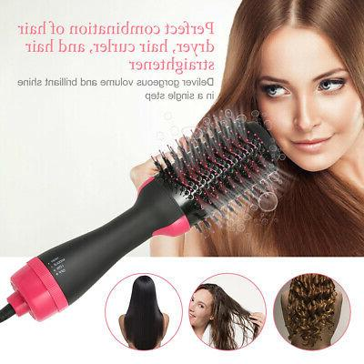 3in1 Dryer Brush Hot Air Dryer Straightener Hair