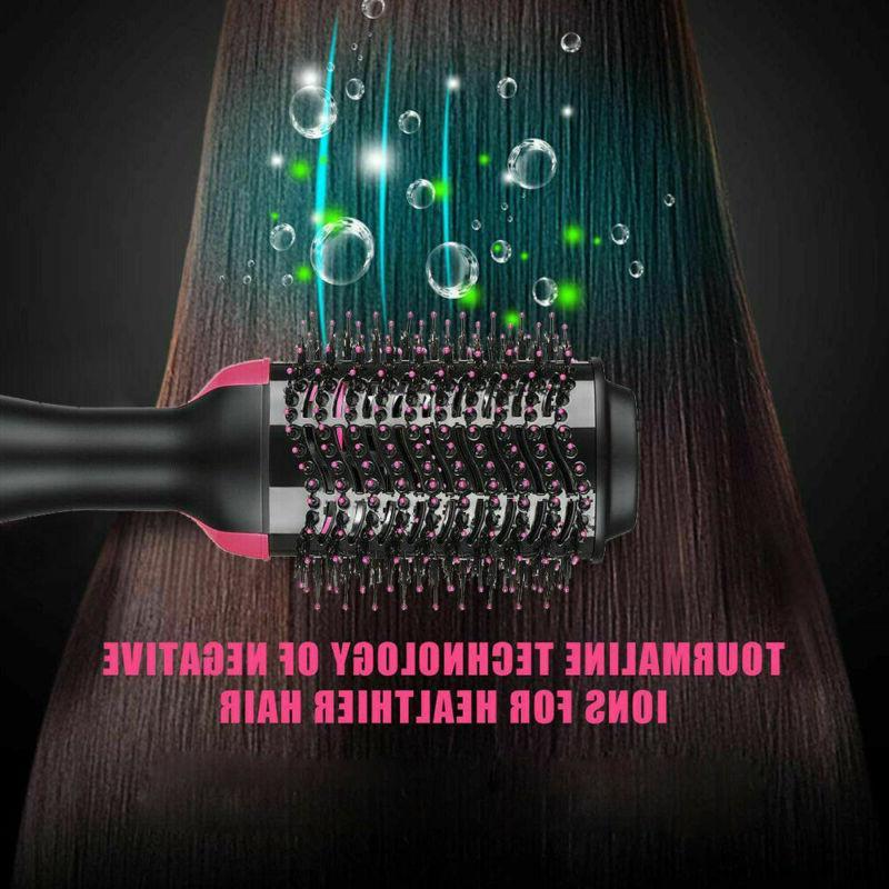 3in1 Hair Blow Brush Air Hair Dryer Straightener Curling Hair