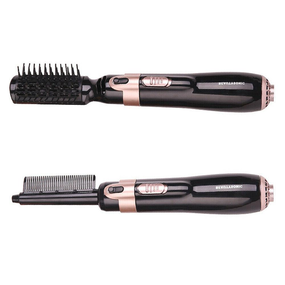 4 In Blow Straightener Heads Fast Hair Irons Comb US