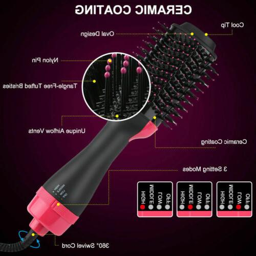 4 in1 Dryer Volumizer Curler Comb Infrared Hot Brush