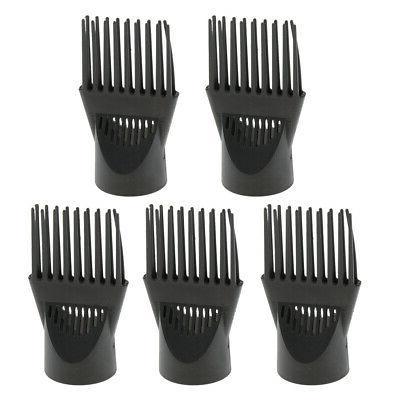 5 Piece Black Hairdressing Salon Hair Dryer Diffuser Blow Co