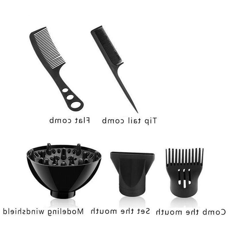 6PCS/Set 2200W Dryer Heat Diffuser/Comb Kit Plug