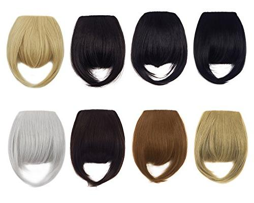 """8"""" Fashion Bangs Clip in Hair Extensions Front Neat Bangs Fr"""