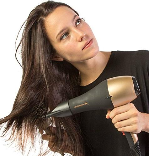 ADVANCED INFRARED DRYER Ionic Blow Dryer Long-Life Salon Motor, Temps Hot, Cool AND Cool 8' Cord,