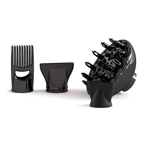 BERTA 1875W Hair Negative Ionic Speed & Settings Plus AC Motor with 4 professional Accessories